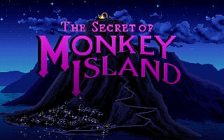 "Ein Titelbild-Screenshot des PC-Spieles ""The Secret of Monkey Island"""