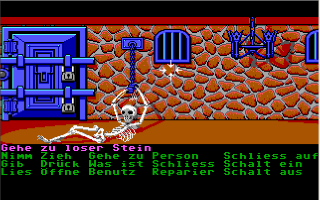 unsichtbar in Maniac Mansion